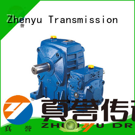 Zhenyu hot-sale worm gear reducer certifications for wind turbines