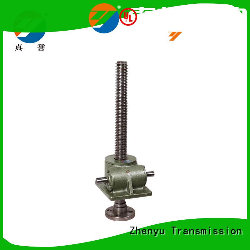 Zhenyu easy install manual screw jack effectively for hydraulics