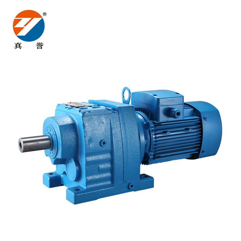 R series Helical Motor Gearbox Coaxial Helical Gearbox with inline motor for converter / mixer gearbox