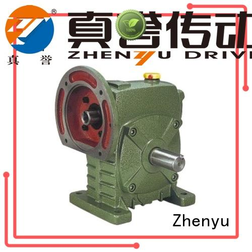Zhenyu equipment inline gear reduction box certifications for light industry