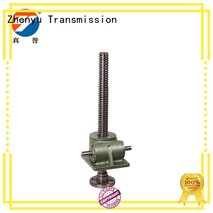 Zhenyu screw mechanical screw jack manufacturer for light industry