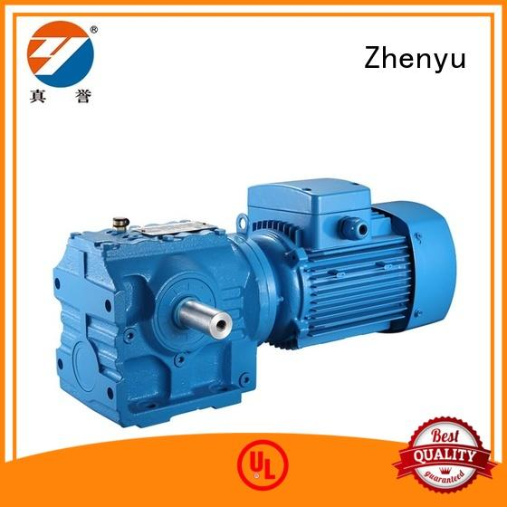 Zhenyu electric motor speed reducer free design for wind turbines