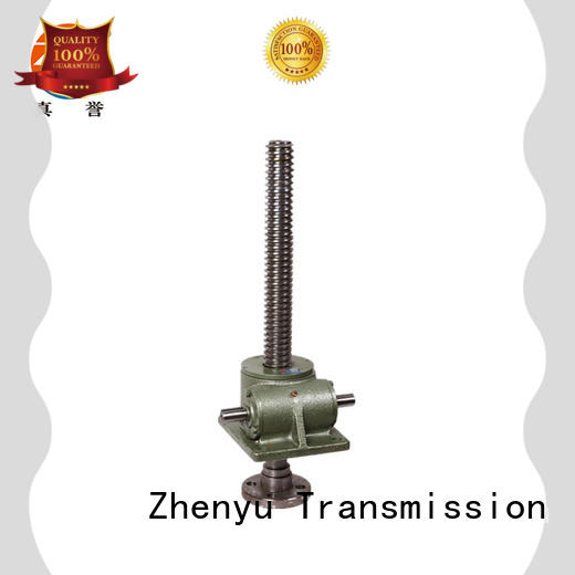 Zhenyu caster hand operated screw jack producer for transportation