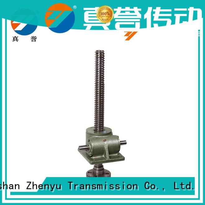 compact design mechanical screw jack caster producer for transportation