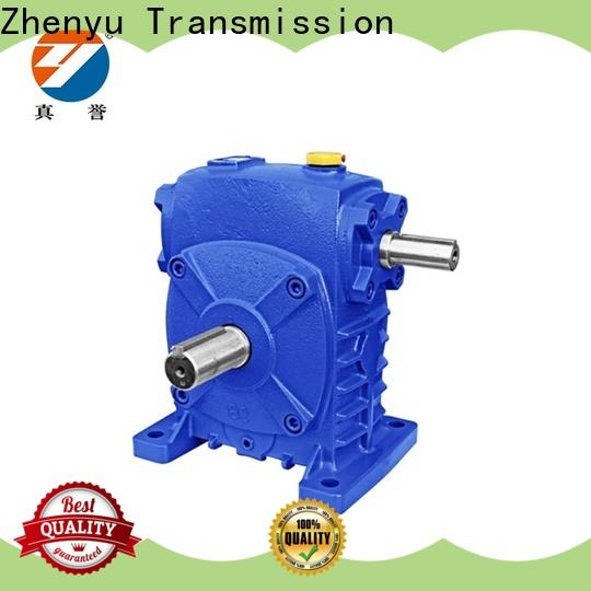 Zhenyu electric worm drive gearbox free quote for light industry