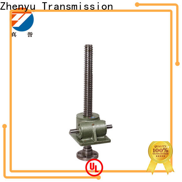 Zhenyu easy operation worm gear screw jack wholesale for transportation