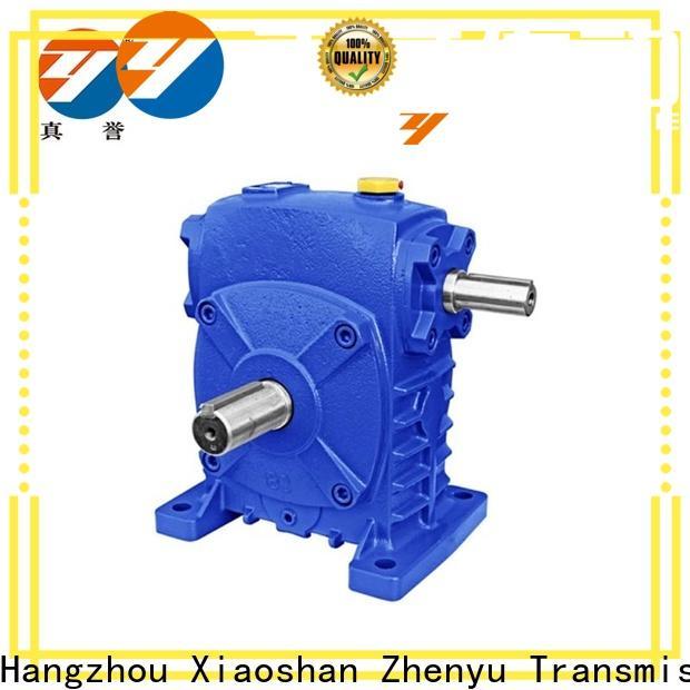 Zhenyu aluminum worm gear speed reducer order now for wind turbines