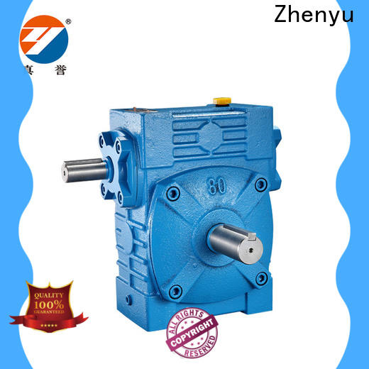 Zhenyu hot-sale inline gear reducer certifications for chemical steel