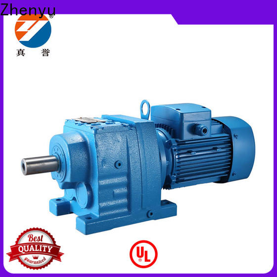 Zhenyu electricity inline gear reduction box free design for mining
