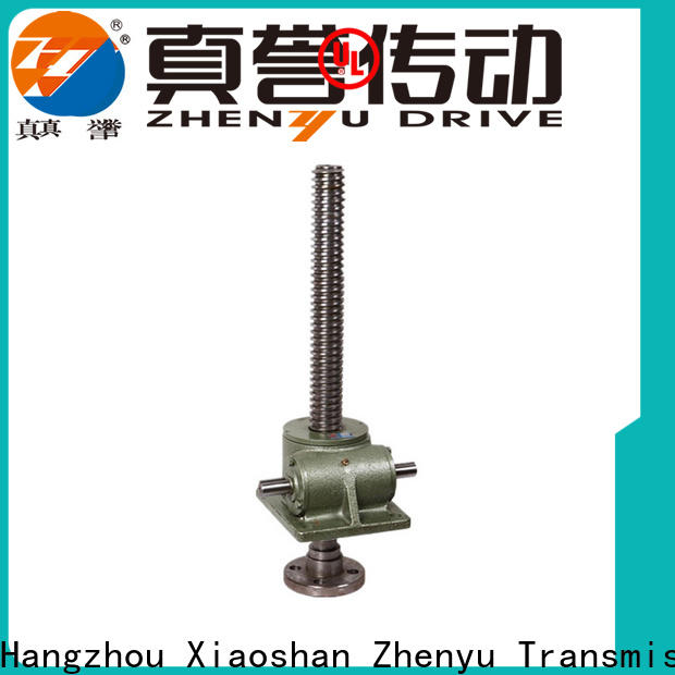 Zhenyu swl types of screw jack wholesale for hydraulics