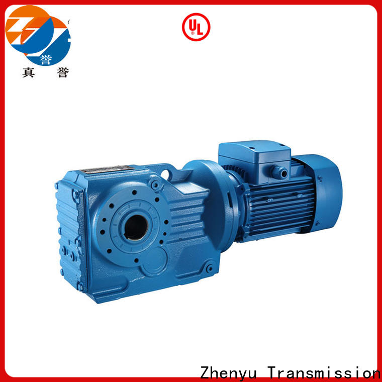 Zhenyu newly electric motor speed reducer free design for printing