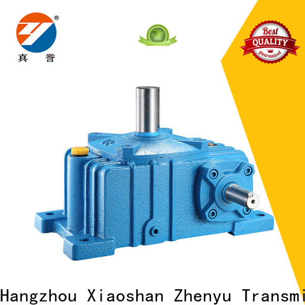 Zhenyu electric inline gear reduction box free design for mining
