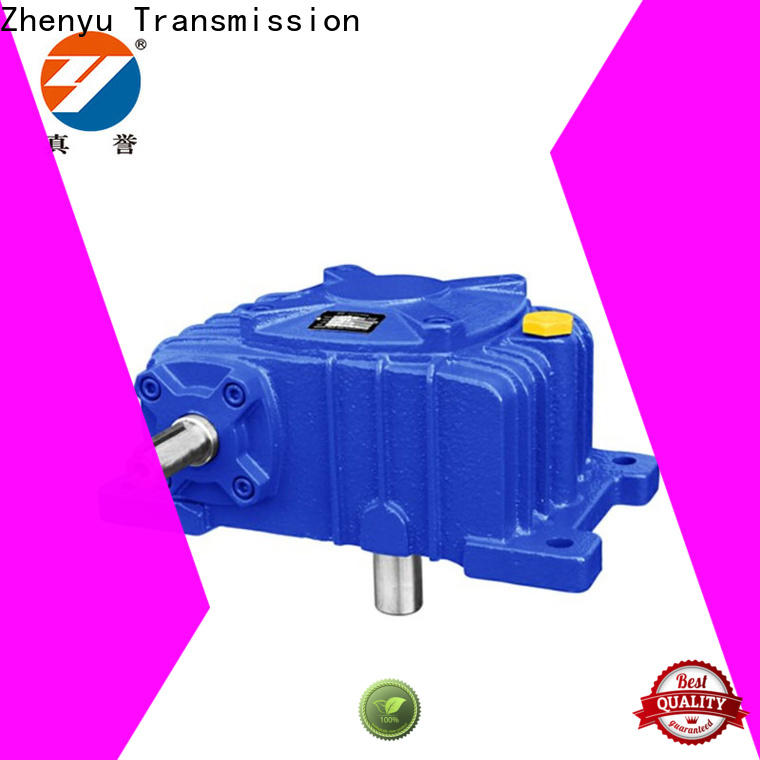 Zhenyu reduction reduction gear box certifications for chemical steel