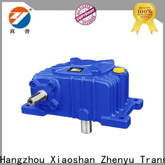 Zhenyu 22kw worm gear speed reducer free quote for wind turbines